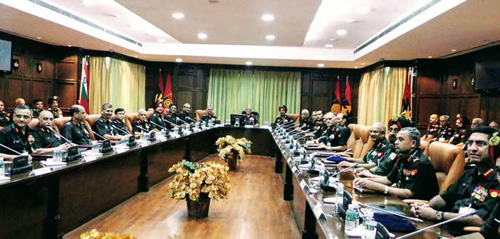 Indian army discusses rightsizing and restructuring issues 14