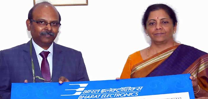 Bharat Electronics Ltd pays a dividend of Rs 64 crore to Govt 8