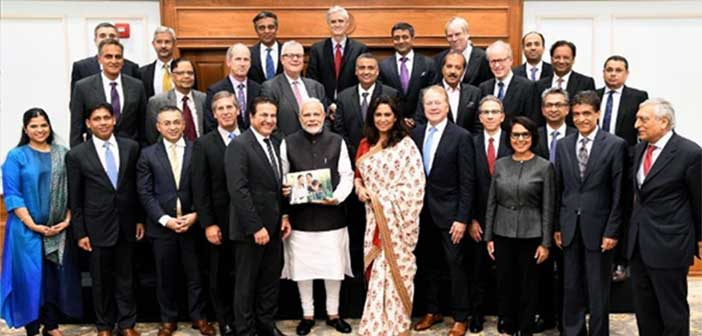 US industry leaders call on Prime Minister Modi 13