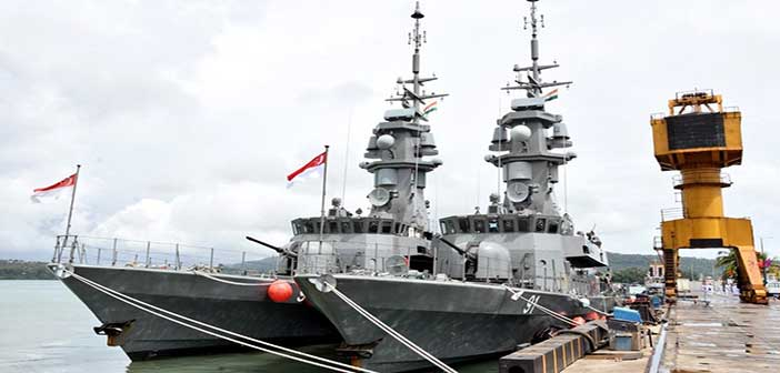 India-Singapore navies begin biggest weapon firing drill Simbex 7